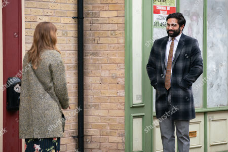 Coronation Street - Ep 10285 Monday 29th March 2021 - 1st Ep An excited Imran Habeeb, as played by Charlie de Melo, tells Toyah Battersby, as played by Georgia Taylor, that social services called and they've agreed to place Kelly with them.