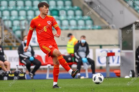 Wale's U18 Jay Williams (6) in action during the international friendly match between U18 Wales and U18 England at Leckwith Stadium, Cardiff