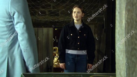 Emmerdale - Ep 9010 & Ep 9011 Thursday 1st April 2021 Liv Flaherty, as played by Isobel Steele, confronts Paul Ashdale, as played by Reece Dinsdale. in the wedding barn but has she put herself in grave danger? How will Paul react when he's confronted?