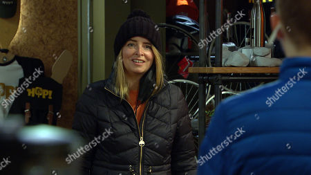 Emmerdale - Ep 9015 Wednesday 7th April 2021 Noah Tate, as played by Jack Downham, sets up a chance meeting between Charity Dingle, as played by Emma Atkins, and Sarah Sugden, as played by Katie Hill, but it backfires.