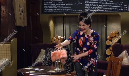 Emmerdale - Ep 9019 Monday 12th April 2021 Faith Dingle, as played by Sally Dexter, gives Lydia Dingle £1000 claiming to have sold the hearse, what is she up to?