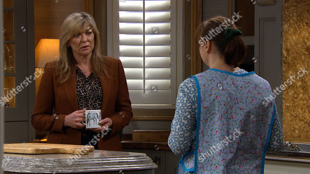 Emmerdale - Ep 9020 Tuesday 13th April 2021 Lydia arrives and shouts in alarm as she sees Kim Tate, as played by Claire King, lying lifeless. Kim opens her eyes in a panic and worried Lydia Dingle, as played by Karen Blick, tells her she needs to see a doctor, but Kim refuses. Kim's privately terrified she could be seriously ill and is looking at something on her laptop. When Gabby Thomas pitches up she sees the laptop and reads what it says aloud: Kim comes clean and shakily opens up to Lydia and Gabby.