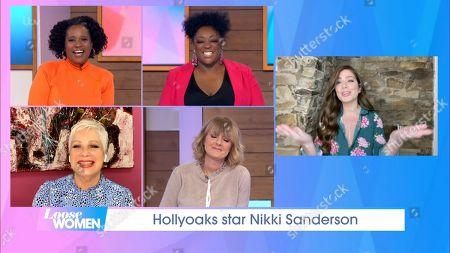 Charlene White, Judi Love, Denise Welch, Jane Moore and Nikki Sanderson