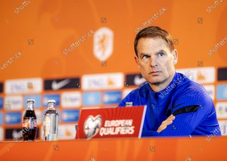 Dutch national soccer team head coach Frank de Boer attends a press conference session in Zeist, Netherlands, 29 March 2021. The Netherlands will face Gibraltar in their FIFA World Cup 2022 qualifying soccer match on 30 March 2021.