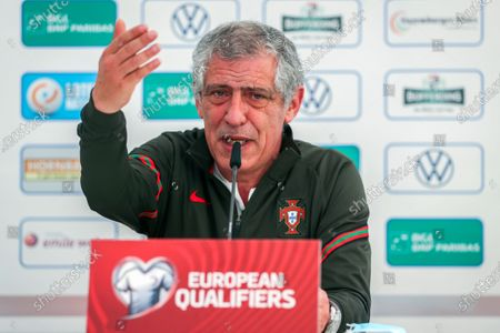 Stock Picture of Portugal's head coach Fernando Santos speaks during a press conference at Josy Barthel Stadium in Luxembourg, 29 March 2021. Portugal will face Luxembourg in their FIFA World Cup 2022 qualifying soccer match on 30 March 2021.