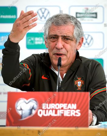 Editorial photo of Portugal press conference, Luxembourg - 29 Mar 2021