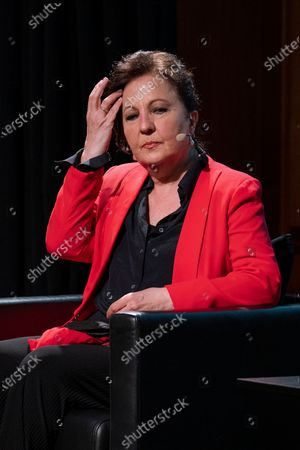 Stock Photo of Carmen Linares  attend the presentation of the World Flamenco Congress at the Instituto Cervantes in Madrid. March 29, 2021 Spain