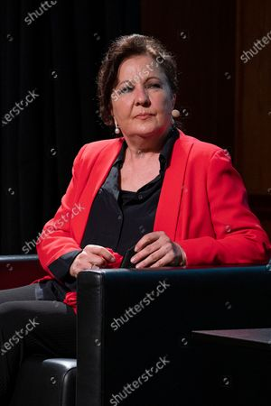 Stock Image of Carmen Linares  attend the presentation of the World Flamenco Congress at the Instituto Cervantes in Madrid. March 29, 2021 Spain
