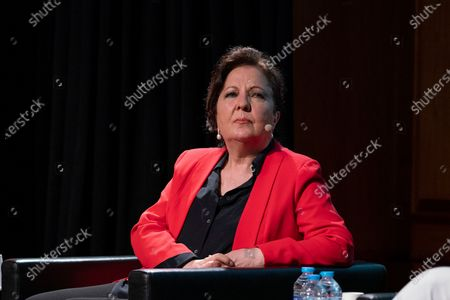 Carmen Linares  attend the presentation of the World Flamenco Congress at the Instituto Cervantes in Madrid. March 29, 2021 Spain