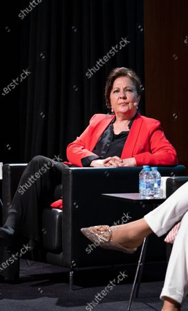 Stock Picture of Carmen Linares  attend the presentation of the World Flamenco Congress at the Instituto Cervantes in Madrid. March 29, 2021 Spain