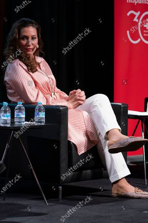 Marina Heredia attend the presentation of the World Flamenco Congress at the Instituto Cervantes in Madrid. March 29, 2021 Spain