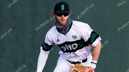 Stock Photo of Michael Richardson (8) of the Ohio Bobcats during an NCAA baseball game against the Central Michigan Chippewas on in Athens, Ohio