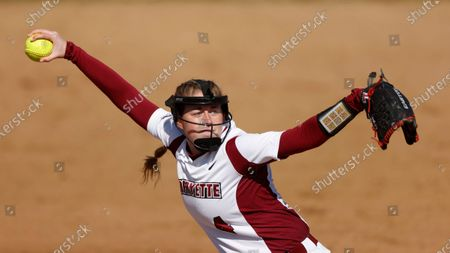Lafayette pitcher Hannah Cook throws against Bucknell during an NCAA softball game, in Easton, Pa
