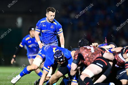 Stock Picture of NTT Communications' Greig Laidlaw during the Japan Rugby Top League 2021 match between Toshiba Brave Lupus and NTT Communications Shining Arcs at the Prince Chichibu stadium in Tokyo.