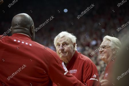 Celebrations as NCAA basketball coach Bob Knight, who took the Indiana Hoosiers to three NCAA national titles, returns to Assembly Hall, Saturday, February 8, 2020 in Bloomington. Bob Knight coached the Hoosiers to NCAA basketball championships in 1976, 1981, and 1987.