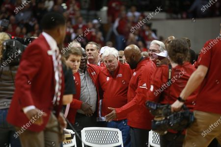 Editorial image of Mike Woodson and Bob Knight at Assembly Hall in Bloomington, USA - 8 Feb 2020