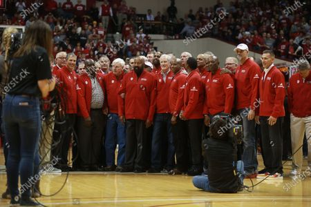 Editorial picture of Mike Woodson and Bob Knight at Assembly Hall in Bloomington, USA - 8 Feb 2020