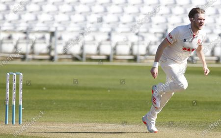 Essex's Simon Cook  during  Friendly  Day One of 2 match between Essex CCC and Kent CCC at The Cloudfm County Ground on 29th March , 2021 in Chelmsford, England