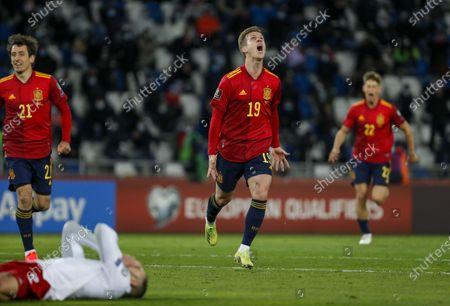 Daniel Carvajal celebrates the second goal.
