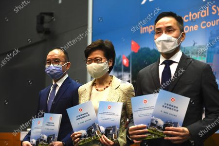 Editorial picture of Hong Kong Chief Executive Carrie Lam Press Conference On Standing Committee Decision, China - 30 Mar 2021