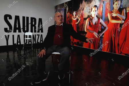 Stock Image of Spanish film maker Carlos Saura poses during the presentation of the exhibition 'Carlos Saura and Dance' at Madrid's Cultural Center Fernan Gomez theatre, in Madrid, Spain, 30 March 2021. The exhibition will run until 06 June 2021.