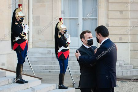 The President of the French Republic Emmanuel Macron received Nechirvan Barzani, President of the Regional Government of Iraqi Kurdistan for a working lunch at the Elysee Palace.