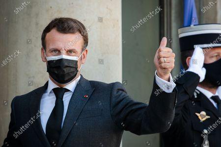 Editorial picture of President Macron receives Nechirvan Barzani, Elysee Palace, Paris, France - 30 Mar 2021