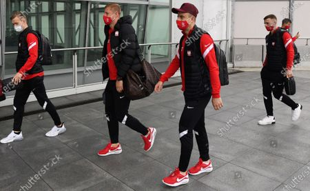 Editorial image of Polish national soccer team at the airport in Warsaw, Poland - 30 Mar 2021