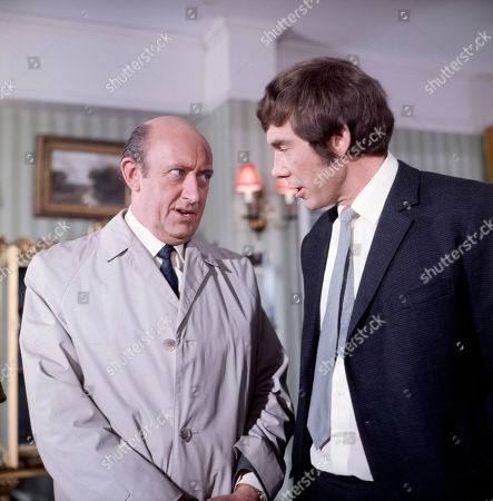 Inspector Large, as played by Ivor Dean, and Jeff Randall, as played by Mike Pratt
