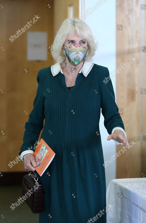 Camilla Duchess of Cornwall during a visit to Fitzjohn's Food Bank and the Lewes Open Door charity at Christ's Church in Lewes, East Sussex.