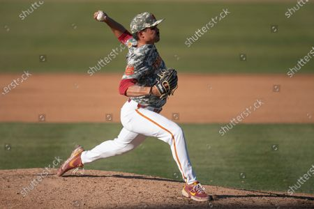 Stock Picture of Southern California pitcher Alex Cornwell delivers a pitch during an NCAA baseball game against UCLA, in Los Angeles