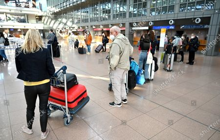 Editorial photo of Vacation travel at Helmut Schmidt Airport, Hamburg, Germany - 30 Mar 2021