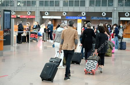 Editorial image of Vacation travel at Helmut Schmidt Airport, Hamburg, Germany - 30 Mar 2021