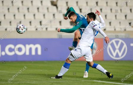Editorial image of Slovenia WCup 2022 Soccer, Nicosia, Cyprus - 30 Mar 2021