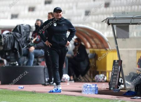 Slovenia's head coach Matjaz Kek during the World Cup 2022 group H qualifying soccer match between Cyprus and Slovenia at GSP stadium in Nicosia, Cyprus