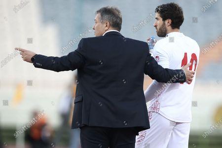 Dragan Skocic the Head Coach of Iran with Karim Ansarifard