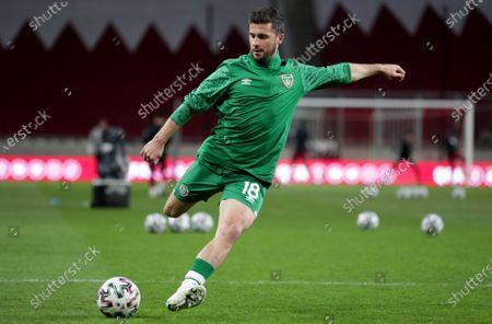 Qatar vs Republic of Ireland. Ireland's Shane Long during the warm-up