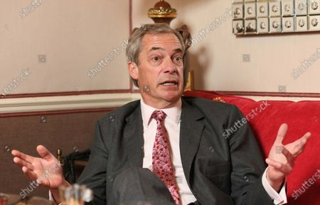 Editorial picture of Nigel Farage interview, London, UK - 26 Mar 2021