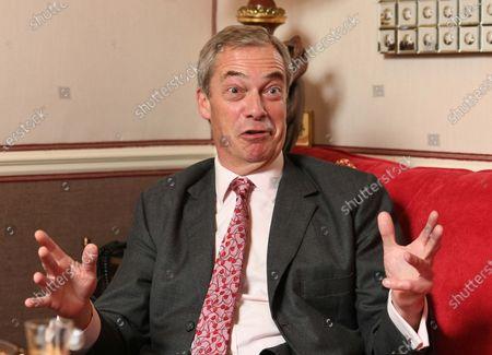 Editorial photo of Nigel Farage interview, London, UK - 26 Mar 2021