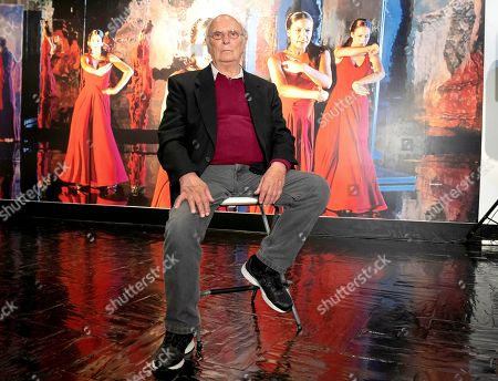 Stock Picture of The filmmaker Carlos Saura attends the presentation of the exhibition 'Carlos Saura and Dance' at the Fernan Gomez Theater