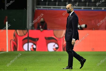 Stock Picture of Belgium's head coach Roberto Martinez pictured before the start of a qualification game for the World Cup 2022 in the group E between the Belgian national team Red Devils and Belarus (third out of eight games), Tuesday 30 March 2021 in Leuven.