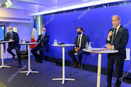 Francois Cornu-Gentille, Jean Francois Cope, Christian Jacob and Eric Woerth.