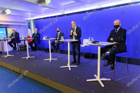 Francois Cornu-Gentille, Jean Francois Cope, Christian Jacob, Eric Woerth and Olivier Marleix.