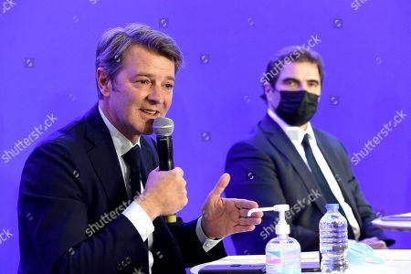 Stock Photo of Francois Baroin and Christian Jacob