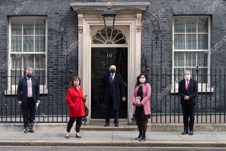 MP's that have had sanctions imposed by China visit PM Boris Johnson in Downing Street. Tim Loughton, Helena KennedyIain Duncan Smith, Nus Ghani and David Alton