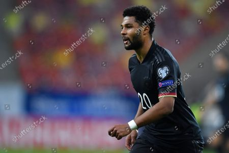 Serge Gnabry during the game between Romania an Germany, in the World Cup 2022 Qualifiers, at National Arena Bucharest on March 28, 2021 in Bucharest, Romania.