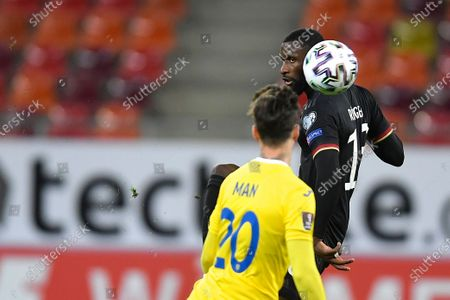 Antonio Rudiger during the game between Romania an Germany, in the World Cup 2022 Qualifiers, at National Arena Bucharest on March 28, 2021 in Bucharest, Romania.