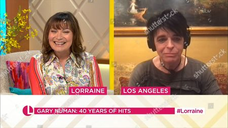 Stock Image of Lorraine Kelly and Gary Numan