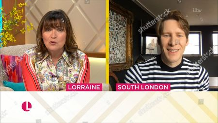 Stock Image of Lorraine Kelly and Dustin Lance Black