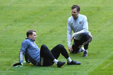 Manuel Neuer (Germany) , front Oliver Bierhoff (Director National Teams and Academy Germany) , behind
